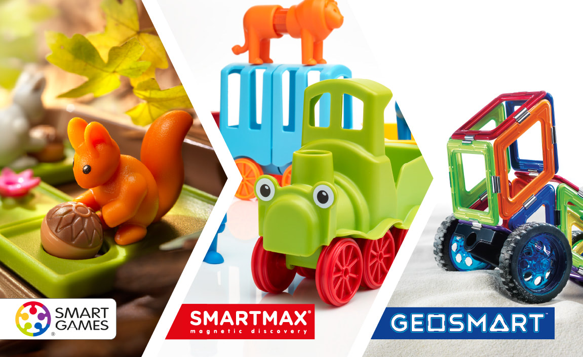 Our brands, SmartGames, SmartMax and Geosmart