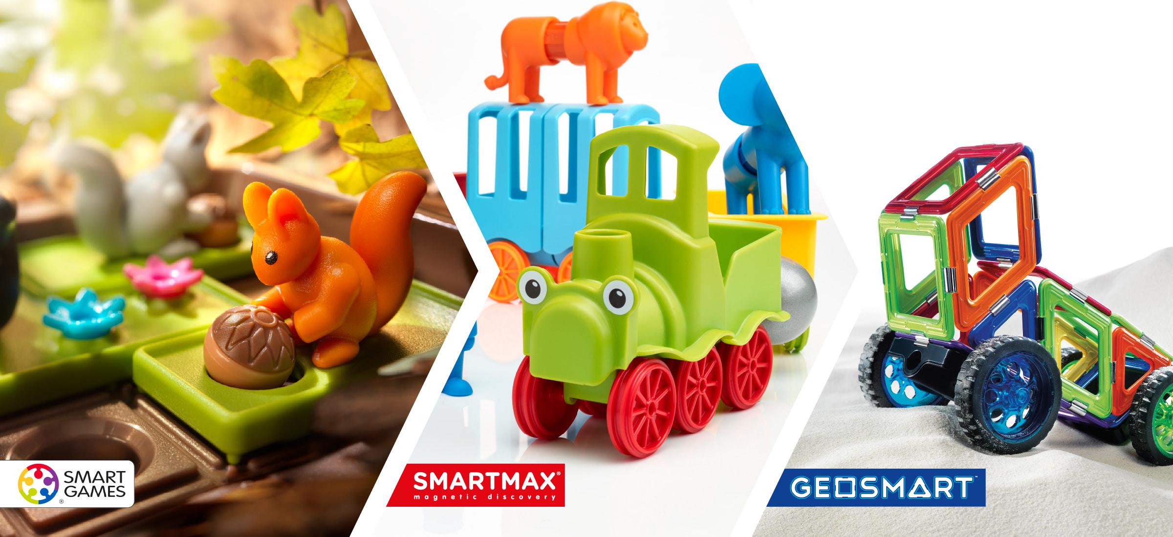 Onze merken, SmartGames, SmartMax en Geosmart